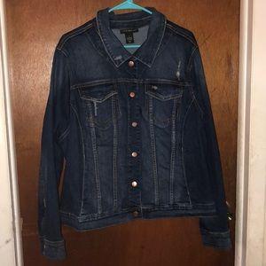 Lane Bryant long sleeved jean jacket size 24